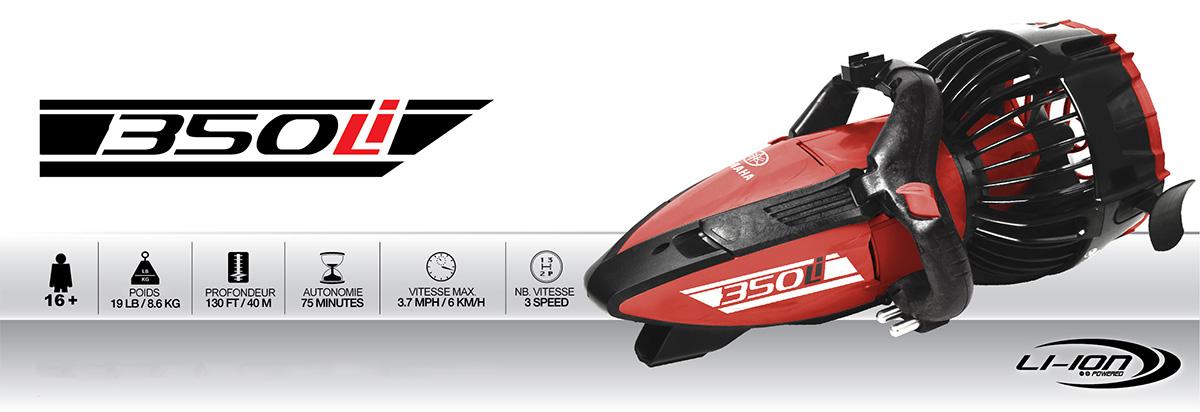 Caractéristiques scooter sous-marin Yamaha 350Li