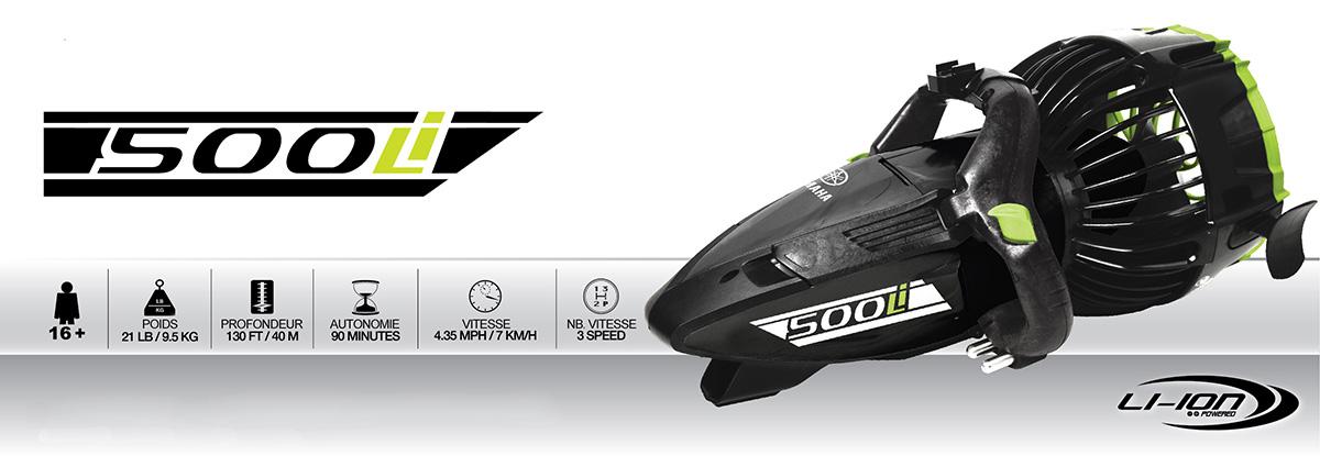 Caractéristiques scooter sous-marin Yamaha 500Li