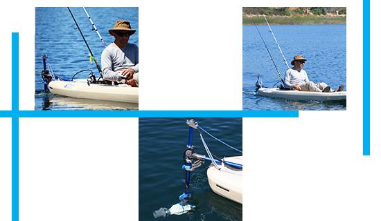 Fixation adaptable Kayak / Canoë universel Bixpy