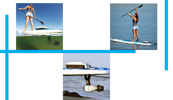Fixation adaptable Paddle SUP Us Fin Bixpy