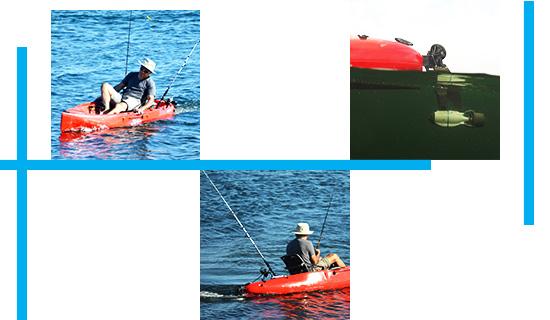 Fixation adaptable kayak pour gouvernail HOBIE Bixpy